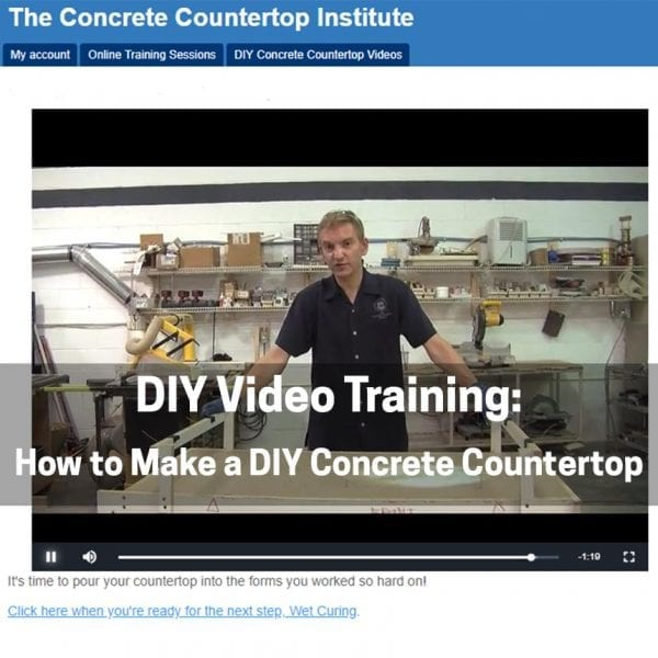DIY Concrete Countertop video training