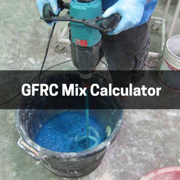 GFRC Mix Calculator for concrete countertops
