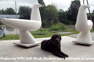 GFRC concrete sculpture by Ivars Umbrasko