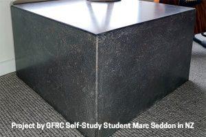 GFRC cube side table by Marc Seddon
