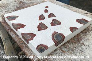 GFRC concrete table top by Laurie Reydman