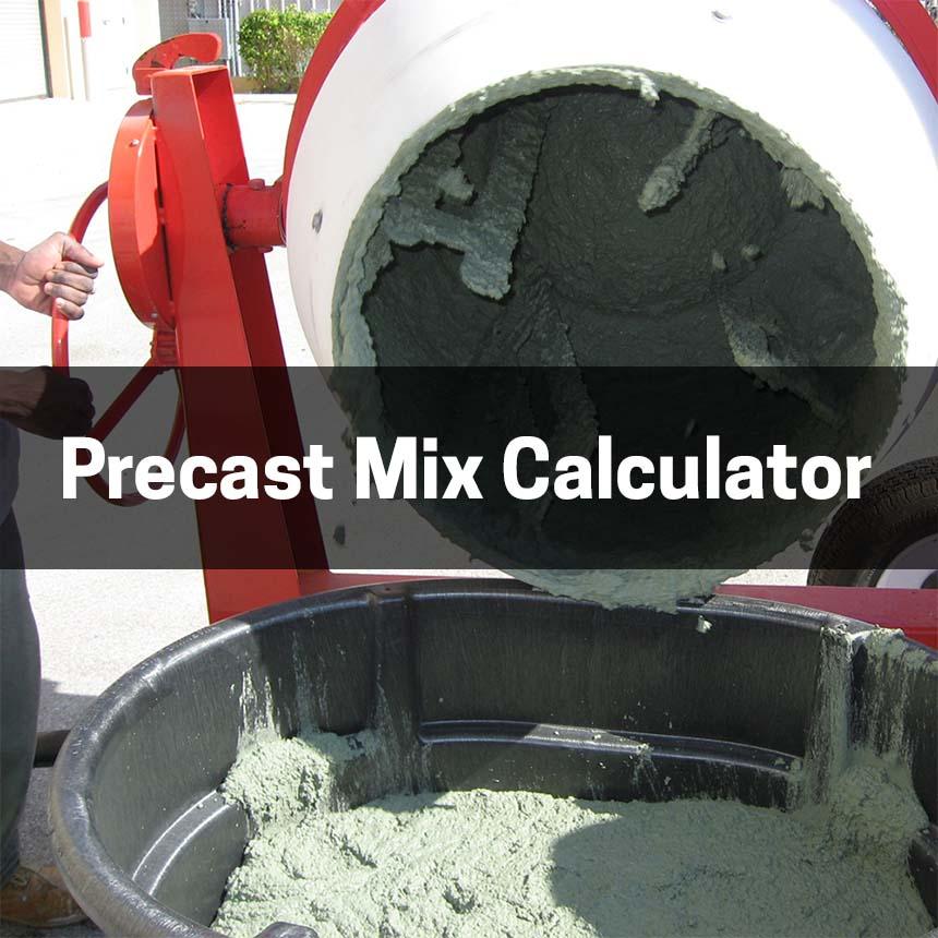 Precast Mix Calculator