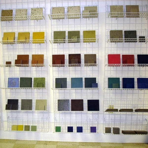 colorful concrete countertop samples