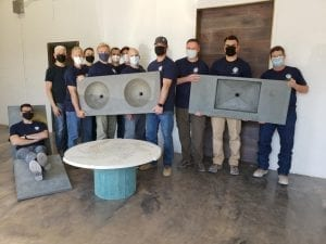 class-photo-with-concrete-table-polished-with-DS3011