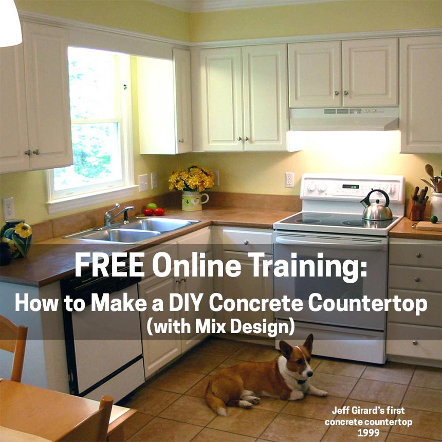 Free Online Seminar For How to Make a DIY Concrete Countertop (with Mix Design)