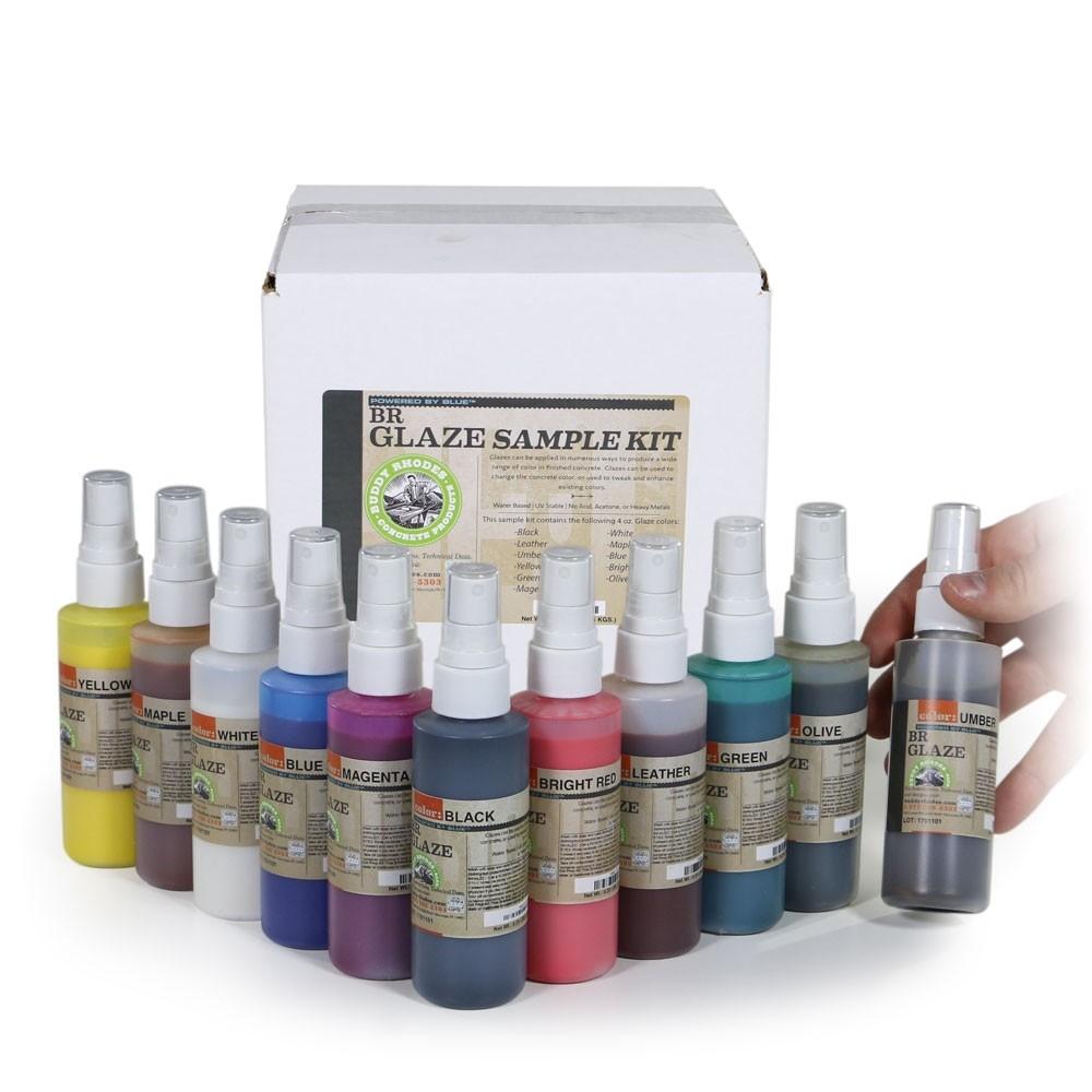 Glazes for Coloring Concrete Countertops
