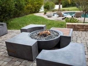 Concrete Commander Florida concrete fire pits furniture Small