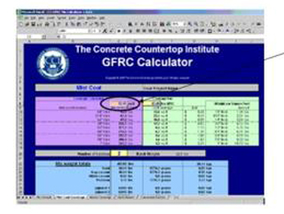 How to Calculate Polymer and Fibers in GFRC Concrete