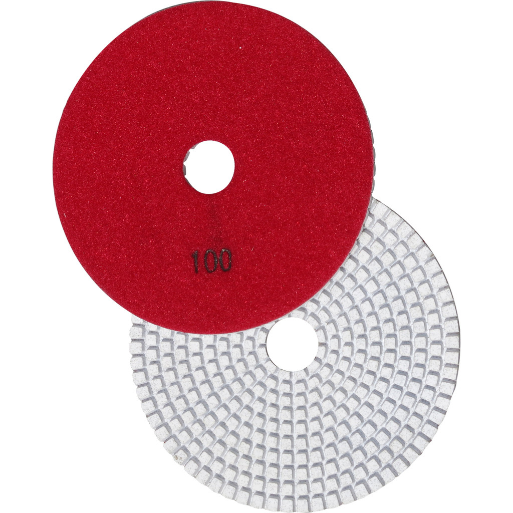"5"" Wet Polishing Pad, 100 Grit"