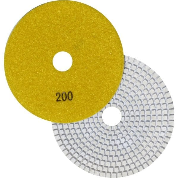 "5"" Wet Polishing Pad, 200 Grit"