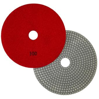 "7"" Wet Polishing Pad, 100 Grit"