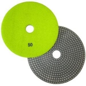"7"" Wet Polishing Pad, 50 Grit"
