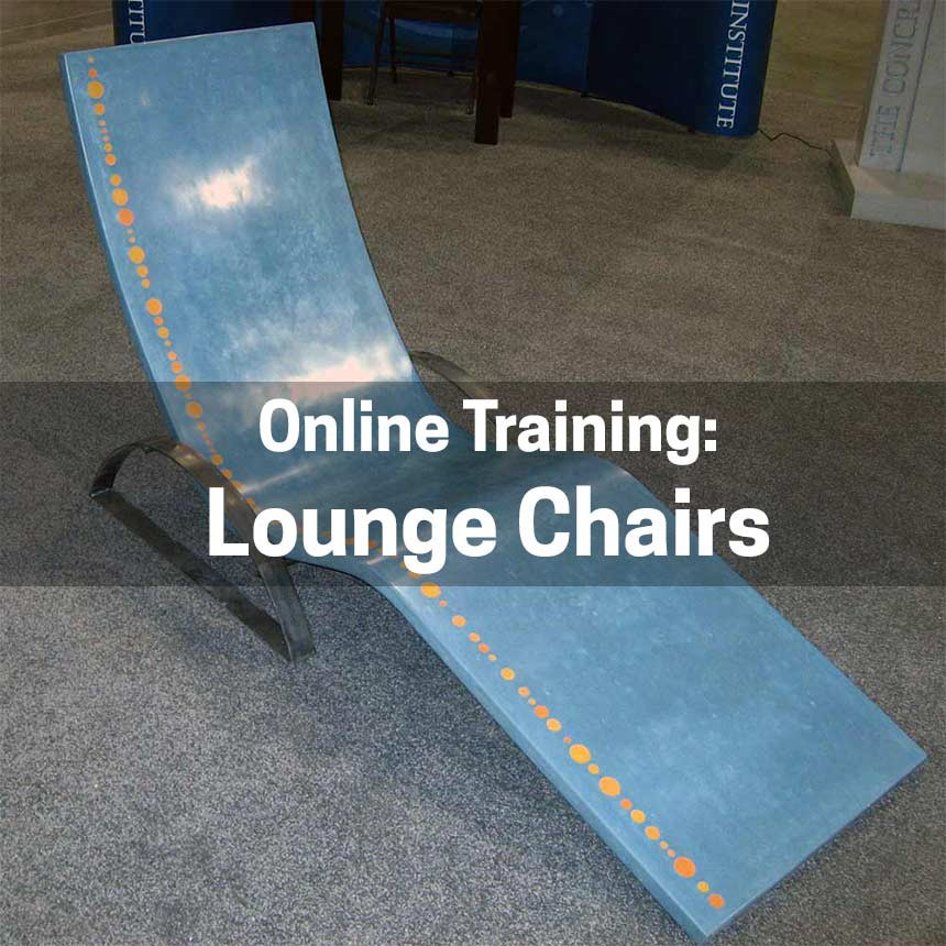 How to Make a GFRC Concrete Lounge Chair
