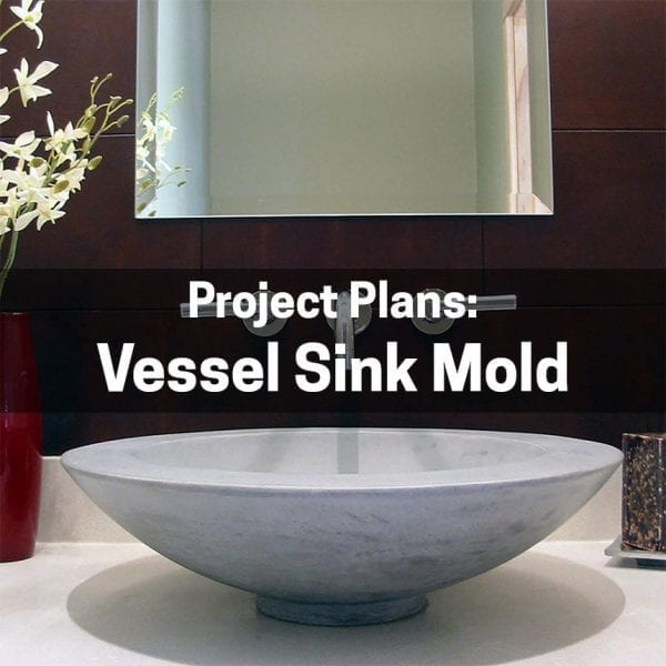 Vessel Sink Mold Plans