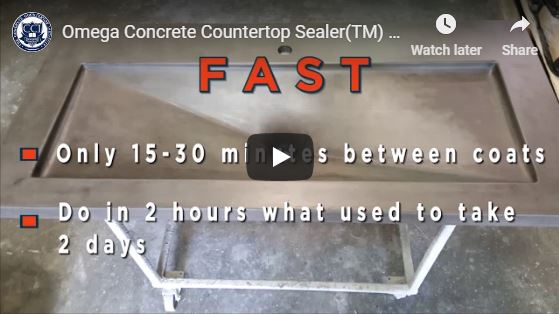 Omega Concrete Countertop Sealer FAQs - Concrete Countertop