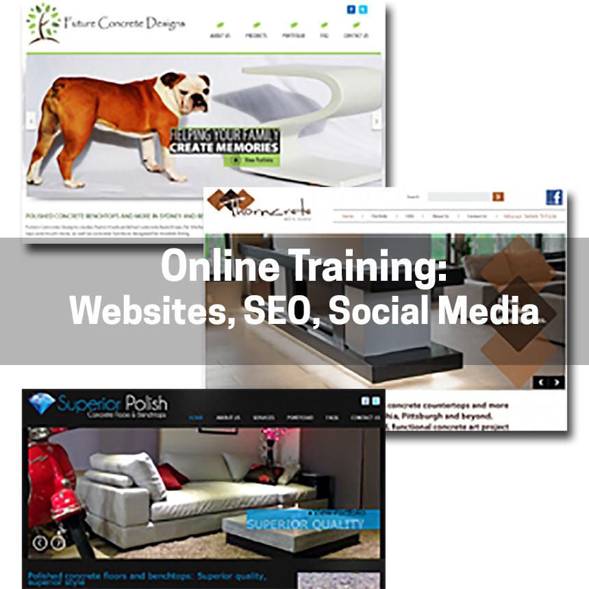 FREE! Websites, SEO & Social Media for Creative Concrete Professionals