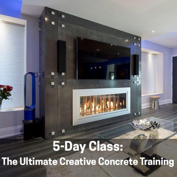modern concrete fireplace surround Ultimate Creative Concrete Countertop Training