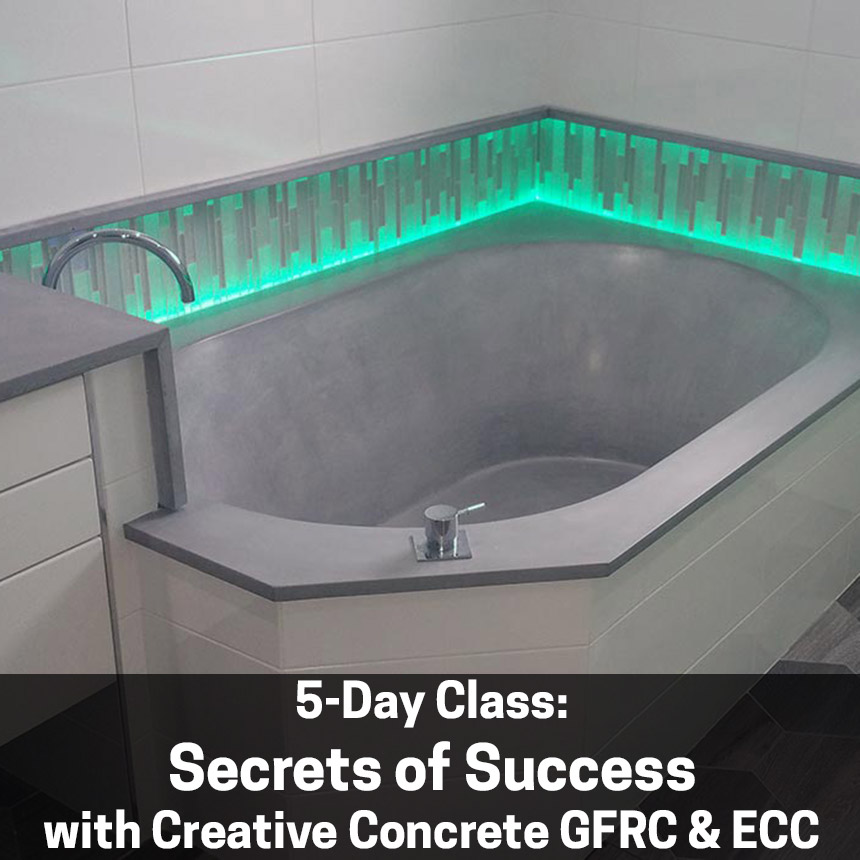 5-Day Secrets of Success with Creative Concrete - Dec 2-6 in Canada  (includes 13% HST)