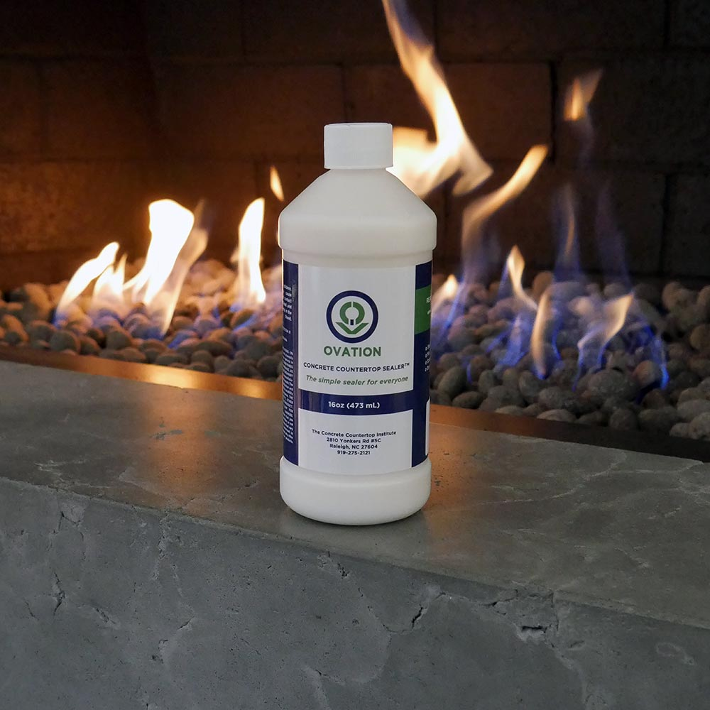 Ovation-Concrete-Countertop-Sealer-fireplace