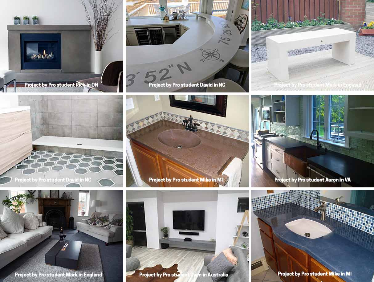 pro-concrete-countertop-training-projects-collage
