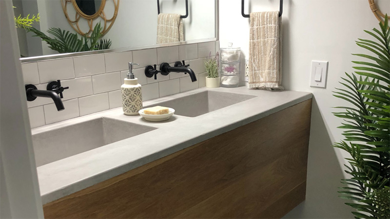 Concrete-double-vanity-by-Wood-and-Stone-Designs